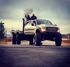 """This Super Six Patriot Ford Monster Truck is the ultimate off-road vehicle. Dave """"Heavy D"""" Sparks who was featured on """"Diesel Brothers"""" show is the Big Ford Trucks, Jacked Up Trucks, Diesel Trucks, Cool Trucks, Pickup Trucks, 6x6 Truck, Jeep Truck, 4x4, Diesel Brothers"""