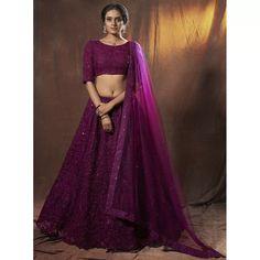 Purple soft net sequence thread work ceremonial lehenga choli Indian Wedding Lehenga, Indian Lehenga, Bridal Lehenga, Saree Wedding, Pink Lehenga, Net Lehenga, Lehenga Choli Online, Simple Lehenga, Party Wear Lehenga
