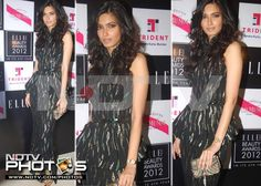 Elle Awards 2012: Diana Penty would have a heady effect on anyone in the velvet Bottega Veneta Fall 2012 gown she wore at the Elle Beauty Awards.