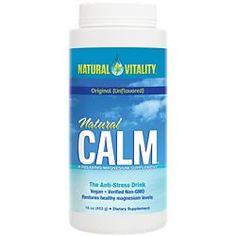 Natural Vitality Brand Products | The Vitamin Shoppe Magnesium Drink, Calm Magnesium, Magnesium Supplements, Nutritional Supplements, Natural Supplements, Natural Calm, High Blood Sugar, Anti Stress, Vitamin E