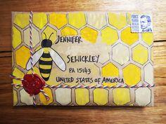 Little mail-art parcels                                                                                                                                                     More