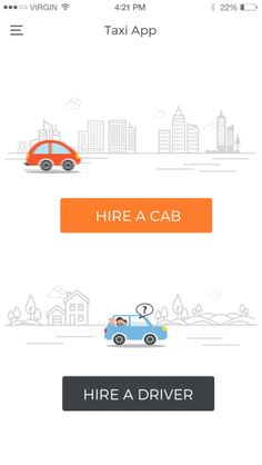What are the major features of car and taxi booking mobile app development?