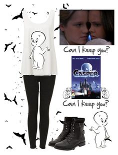 """Casper the Friendly Ghost"" by cg-ashley ❤ liked on Polyvore featuring Topshop, Forever New and SAWA"