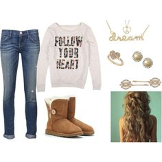 """""""CUTE WINTER OUTFIT :)"""" by gonnamakeyousting on Polyvore"""