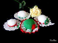 Crochet Pincushion Italian Hat Pincushion Handmade