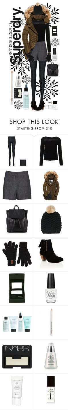 """Let It Snow:  The Cover Up – Jackets by Superdry: Contest Entry"" by rachael-aislynn ❤ liked on Polyvore featuring Uniqlo, Superdry, Sisley, OPI, philosophy, ZuZu Luxe, NARS Cosmetics, Christian Dior, Eve Snow and Winter"
