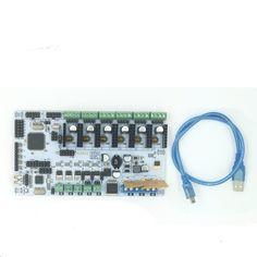 74.90$  Buy here - http://aliofq.worldwells.pw/go.php?t=32671239618 - BigBox 3D Printer Mother Board Rumba Board With 6pcs A4988 Stepper Driver 6pcs Heatsink 3pcs Sticker, with Bigbox firmware 74.90$