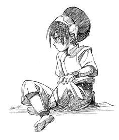 Toph Beifong from Avatar the Last Airbender Avatar Aang, Avatar Airbender, Team Avatar, Cartoon Kunst, Cartoon Drawings, Cartoon Art, Art Drawings, Avatar Fan Art, The Last Avatar