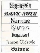 John F. Cumming, typeface designs