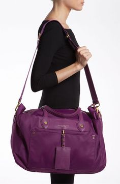 MARC BY MARC JACOBS 'Preppy Nylon - Pearl' Duffel Bag, Perfect for weekend trips home!