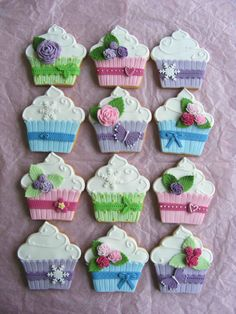 Cupcake Cookies~                  By bubolinkata, pastel, pink, purple, blue, green