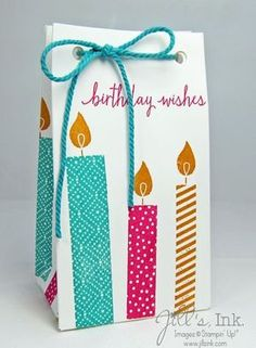 Build a Birthday stamp set by stampin' up with gift bag punch board, annual catalog, stampin up, birthday Birthday Gift Bags, Birthday Cards, Gift Bag Punch Board, Decorated Gift Bags, Teacher Appreciation Gifts, Boyfriend Gifts, Craft Gifts, Gift Baskets, Cardmaking