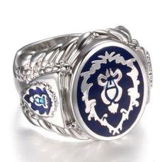 World of Warcraft Ring Platinum Plated Alliance Ring Fashion Men's Ring