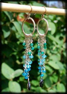 Cascading Peacock hoop #earrings #tutorial