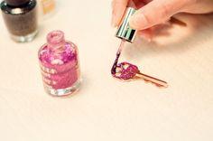 Pink glitter (nail polish) on my keys. Yes please!