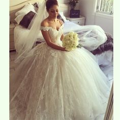 ==> [Free Shipping] Buy Best Vintage Lace Sweetheart Appliques Cathedral train Off The Shoulder Ball Gown Wedding Dress Bridal Gown Vestido De Noiva 2016 Online with LOWEST Price | 32589309638