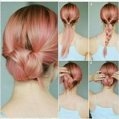 Bun hairstyles for work, Smart hairstyles for work, hairstyles for work Shoulder Length - Easy Updos For Medium Hair, Medium Hair Styles, Curly Hair Styles, Hair Medium, Updos For Medium Length Hair Tutorial, Easy Updo Thin Hair, Simple Hair Updos, Easy Updos For Long Hair, Thick Hair