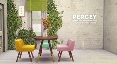Percey Tables and Chair by Gohliad