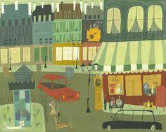 Paris.  Limited edition print 13x19 by Matte Stephens.. $60.00, via Etsy.