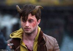 Hard at work: Daniel has starred in a series of indie films since his rise to fame from the Harry Potter series, including Horns Daniel Radcliffe, Horns Movie, Harry Ptter, Zoe Kazan, Kimberly Guilfoyle, Indie Films, Movies 2014, Donald Trump Jr, I Movie