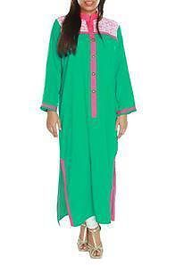 SPECIAL RAMAZAN/EID OFFER GREEN LACE SHIRT AVAILABLE ON REDUCE PRICE WITH FREE SHIPPING