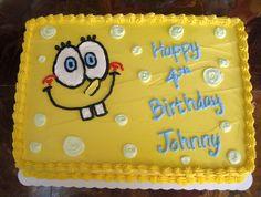 spongebob squarepants cakes | spongebob cake i made this cake for a friend s son s birthday i think ...