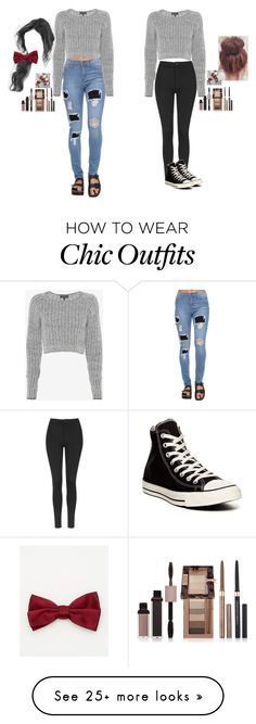 """Which shirt  with which outfit"" by talyla21fashion on Polyvore featuring moda, rag & bone, Le Chateau, Physicians Formula, Topshop y Converse"