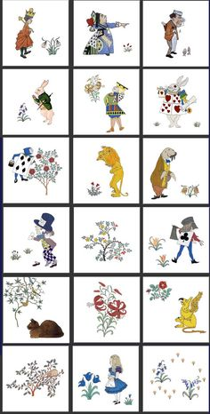 CFA Voysey Alice in Wonderland Nursery Tiles