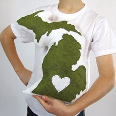 Customizable Michigan State Pillow by lovecalifornia on Etsy, $58.50