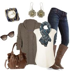 Chunky Cardigan, created by smores1165 on Polyvore