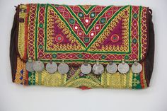 #Handmade #clutch With Nice Coin and hand made work from Vintage Handicrafts