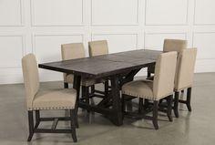 #FairfieldGrantsWishes Jaxon 7 Piece Rectangle Dining Set W/Upholstered Chairs - 360