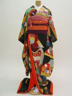 結び屋 長岡 新潟 婚礼衣装、アンティーク着物・引振袖、オーダーウエディングドレス、レンタル~アンティーク着物《結婚式用レンタル振袖》「塩瀬」~