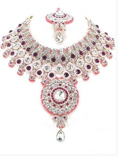 Bollywood Style Indian Imitation Necklace Set / AZBWBR066-GPI Arras Creations http://www.amazon.com/dp/B00XZK8R3E/ref=cm_sw_r_pi_dp_friZvb1VHKNTR