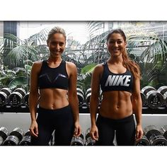 There are MAJOR abs in this workout video of the Base Body Babes.
