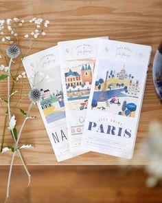 Atelier Noémie Cédille — Julie Flamingo Pamphlet Design, Leaflet Design, Map Design, Layout Design, Travel Brochure Design, Brochure Layout, Packaging Design, Branding Design, Design Creation