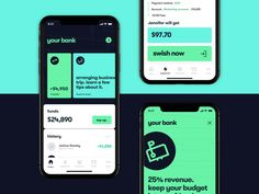 Modern banking app design 🏦 by Daniel Tkachenko on Dribbble Interaktives Design, App Ui Design, User Interface Design, Flat Design, Graphic Design, App Design Inspiration, Design Thinking, Interface Android, Application Ui Design