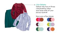 Color Combinations For Your Wardrobe - How To Wear Color #styling #colors #packing