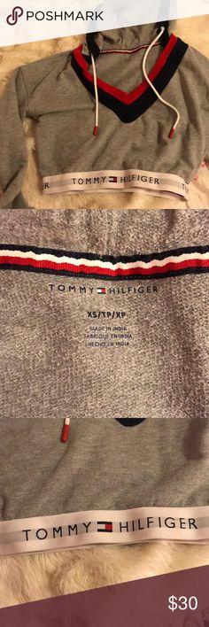 49459721c Tommy Hilfiger cropped sweatshirt Grey Tommy Hilfiger cropped sweatshirt.  worn twice. perfect condition Tommy Hilfiger Tops Sweatshirts & Hoodies