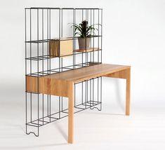 the Din Desk by Gompf Kehrer. desk + shelving in one