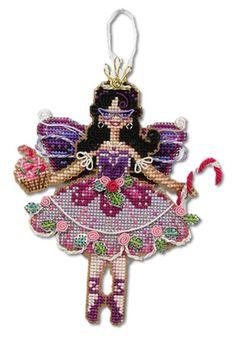 Emma Plum Fairy Ornament - Free pattern from DMC
