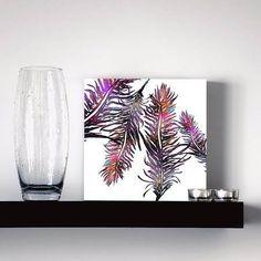 quadro color feathers
