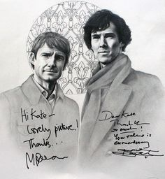 Sherlock (signed) by Kate Powell Art