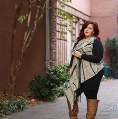Plus Size Fashion - wrap shawl from yona newyork