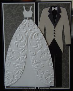 This gate-fold card is made using the Sweethearts Cricut cartridge. This gate-fold card is made using the Sweethearts Cricut cartridge. Wedding Anniversary Cards, Wedding Cards, Wedding Gifts, Wedding Ideas, Cricut Wedding, Wedding Scrapbook, Everyone Is Getting Married, Bridal Shower Cards, Cricut Cartridges
