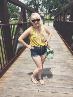 #casualchic #yellow #shorts #summer