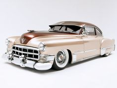 Two-tone 1949 Cadillac Sedanette (grille)