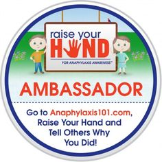 """Earn $15,000. for your school with the """"Raise Your Hand for Anaphylaxis Awareness"""" campaign."""