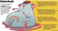 Vacina da gripe protege menos os obesos  A inflamação causada pelo excesso de gordura deixa o corpo mais vulnerável à ação dos vírus, indica estudo americano feito com ratos