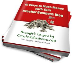 Hooking for Cash features 10 ways to make money with your crochet business blog.